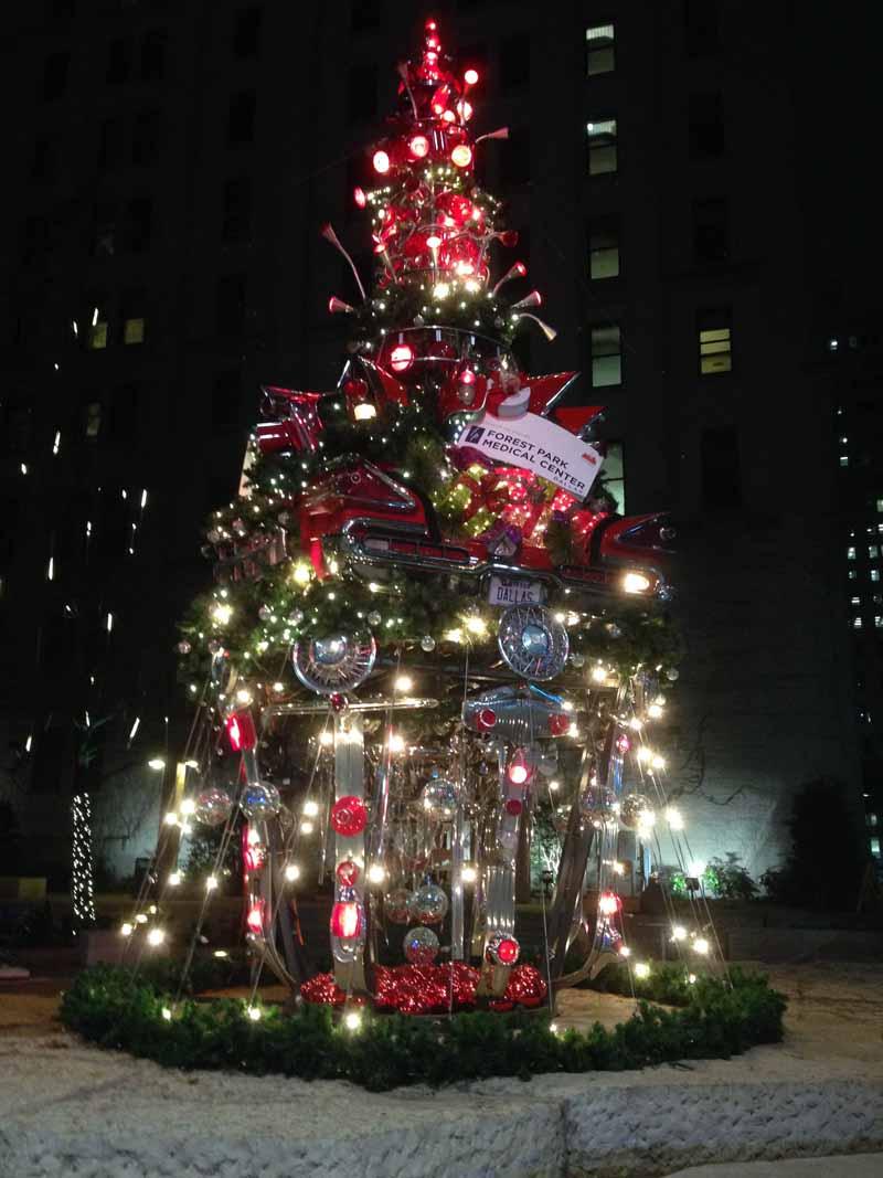 The Car Christmas Tree In Downtown Dallas FashionWindows