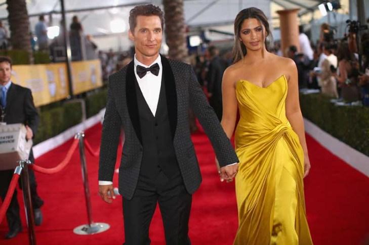 Matthew McConaughey in Dolce Gabbana and Camila Alves in Donna Karan Atelier