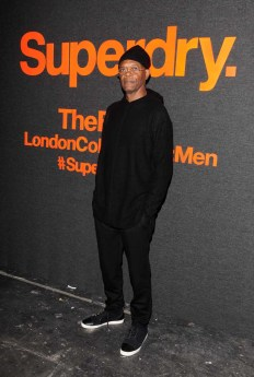LONDON, ENGLAND - JANUARY 07: Samuel L. Jackson arrives at the Superdry AW14 catwalk event as part of London Collections: Men at The Old Sorting Office on January 7, 2014 in London, England. (Photo by David M. Benett/Getty Images for Superdry) *** Local Caption *** Samuel L. Jackson