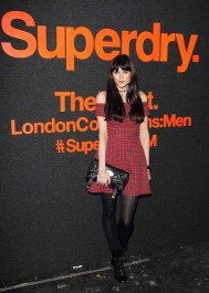 LONDON, ENGLAND - JANUARY 07: Lilah Parsons arrives at the Superdry AW14 catwalk event as part of London Collections: Men at The Old Sorting Office on January 7, 2014 in London, England. (Photo by David M. Benett/Getty Images for Superdry) *** Local Caption *** Lilah Parsons
