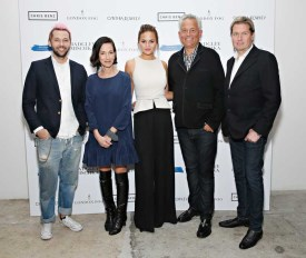 Chrissy Teigen Hosts London Fog Designer Collection Celebration With Mark Badgley, James Mischka, Chris Benz And Cynthia Rowley