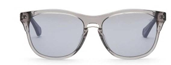 Translucent Grey Plastic Sunglasses with Smoke Mirror