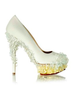 'Glass Slipper', 2014, Maya Lin. Charlotte Olympia for Stepping Up For Art. Photographer Liam Goodman