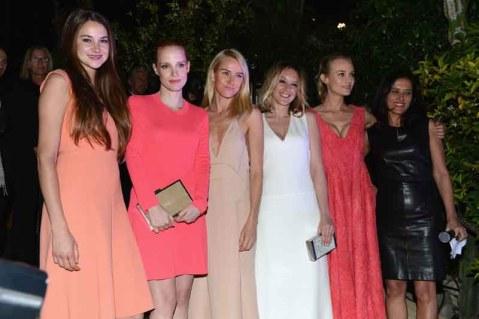 Shailene Woodley;Jessica Chastain;Naomi Watts;Ludivine Sagnier;Diane Kruger;Joana Vicente
