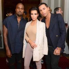 Kanye West, Olivier Rousteing, Kim Kardashian