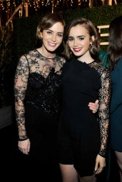 Emily Blunt and Lily Collins