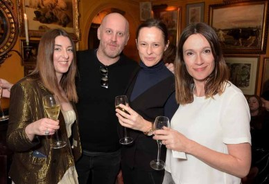 LONDON, ENGLAND - MARCH 16: Claudia Croft, Antony Miles, Imogen Fox and Laura Craik attend the dinner, hosted by Olivier Rousteing, to mark the opening of Balmain's first London store, at Annabel's on March 16, 2015 in London, England. (Photo by David M. Benett/Getty Images for Balmain) *** Local Caption *** Claudia Croft; Antony Miles; Imogen Fox; Laura Craik