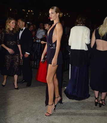 Rosie Huntington Whitely attends the 2015 Met Gala after party
