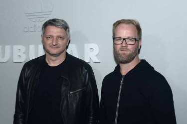 PARIS, FRANCE - JUNE 25: Dirk Schonberger and Nic Gallway attend the Adidas Originals Tubular Paris Fashion Week Performance on June 25, 2015 in Paris, France. (Photo by Dominique Charriau/Getty Images) *** Local Caption *** Dirk Schonberger; Nic Gallway