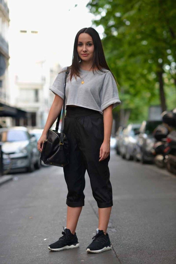 PARIS, FRANCE - JUNE 25: A guest wears Adidas Tubular shoes during the Adidas Originals Tubular Paris Fashion Week Performance on June 25, 2015 in Paris, France. (Photo by Vanni Bassetti/Getty Images)