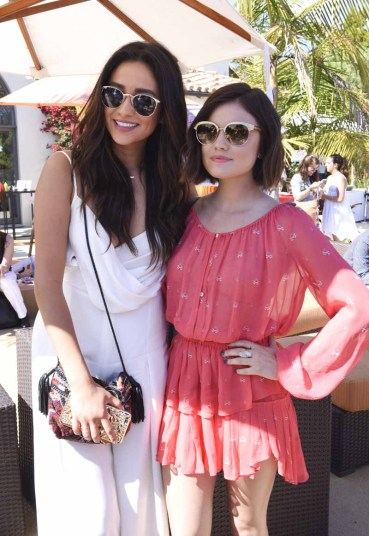 MALIBU, CA - JUNE 14: Actresses Shay Mitchell and Lucy Hale attend Children Mending Hearts 7th Annual Fundraiser Presented By Material Girl And Michael Stars on June 14, 2015 in Malibu, California. (Photo by Vivien Killilea/Getty Images for Children Mending Hearts)