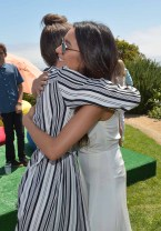 MALIBU, CA - JUNE 14: Actress-singer Zendaya (L) and actress Shay Mitchell attend Children Mending Hearts 7th Annual Fundraiser Presented By Material Girl And Michael Stars on June 14, 2015 in Malibu, California. (Photo by Charley Gallay/Getty Images for Children Mending Hearts)