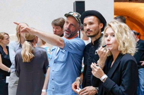 BERLIN, GERMANY - JULY 06: Daniel Werner and guests during the award ceremony European Fashion Award FASH 2015 by SDBI at Neues Museum Berlin on July 6, 2015 in Berlin, Germany. (Photo by Isa Foltin/Getty Images for FASH2015_SDBI.DE)