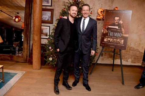 Aaron Paul, Bryan Cranston==A Celebration for Bryan Cranston==Elyx House NYC, ==December 13, 2015==©Patrick McMullan==Photo - Clint Spaulding / PMC== ==