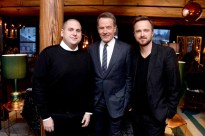 Jonah Hill, Bryan Cranston, Aaron Paul== A Celebration for Bryan Cranston== December 9, 2015== House of Elyx, NYC== ©Patrick McMullan== Photo - Clint Spaulding / PMC== ==