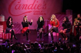 NEW YORK, NY - DECEMBER 10: (L-R) Camila Cabello, Dinah Jane, Lauren Jauregui, Ally Brooke Hernandez and Normani Kordei of Fifth Harmony perform at The Candie's Winter Bash on December 10, 2015 in New York City. (Photo by Cindy Ord/Getty Images for Candie's)