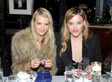 LOS ANGELES, CA - JANUARY 13: Model Kelly Sawyer (L) and Galvan's Sola Harrison attend the Galvan For Opening Ceremony Dinner Hosted By Swarovski at Private Residence on January 13, 2016 in Los Angeles, California. (Photo by Donato Sardella/Getty Images for Galvan)