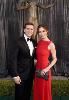Allen Leech and Jessica Blair