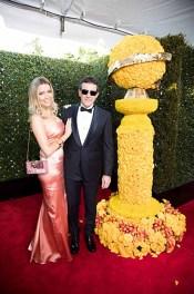 Nicole Kimpel (L) and Antonio Banderas