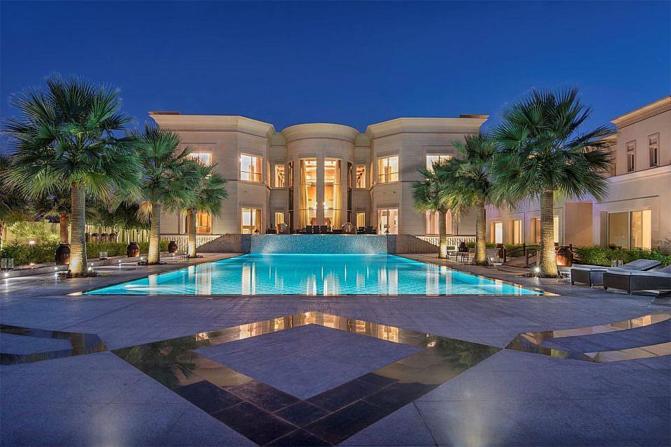 A view of a luxury villa in Dubai