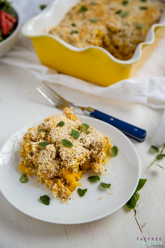 Vegan Roasted Cauliflower Macaroni and Cheese