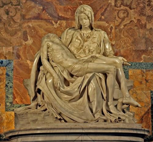"""Pieta, by Michelangelo :: """"War is good business – Invest your son"""" —Allen Ginsberg"""