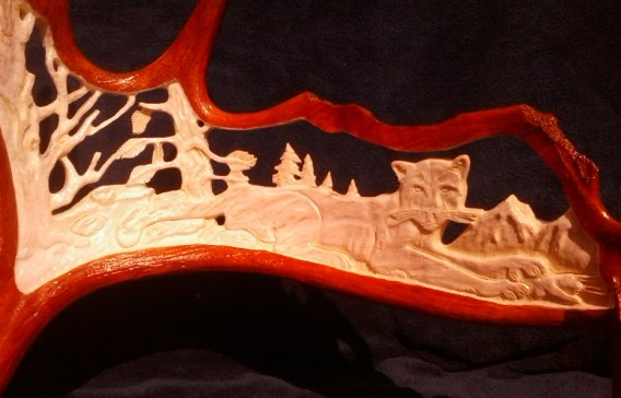 Stephen's Art - Antler carving