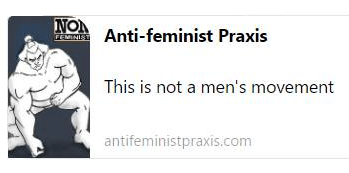 A treasure trove of analysis of feminism and of hard-hitting anti-feminist-commentary and -information; http://antifeministpraxis.com
