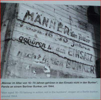 Sign at entrance to air-raid shelter