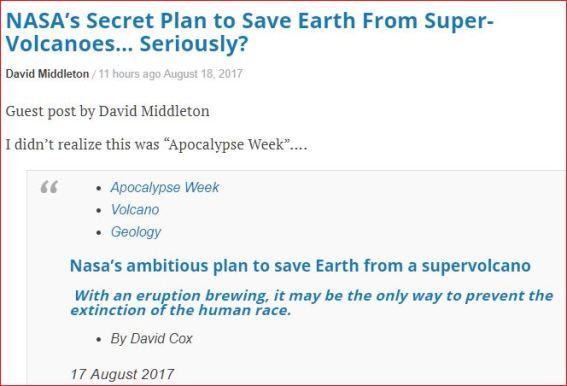 NASA's Secret Plan for Preventing another Sopervolcano Explosion