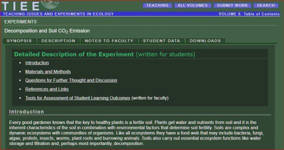 CO2 emitted by soil - Description of experiment, detailed to produce a biased conclusion