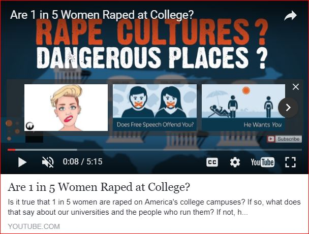 rape culture, video by pragerU.com