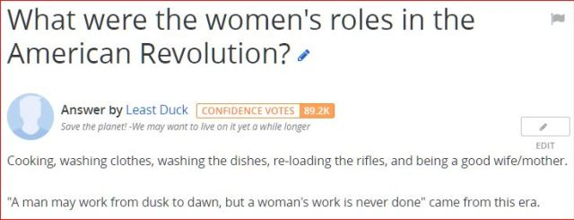 Perceptions — Woman's work then and the social evolution that brought us to where we are now