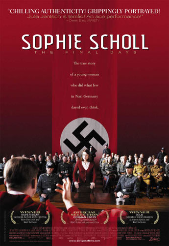 Sophie Scholl — Movie Poster lacks reference to The White Rose