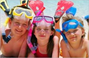 Kids with snorkel gear, from 21 Reasons Why Gender Matters