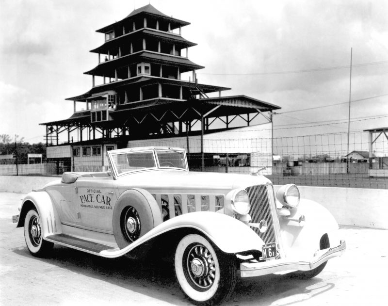Chrysler cars have set the pace at the Indianapolis 500   FCA North     1933 Imperial  Official pace car of the 1933 Indianapolis 500
