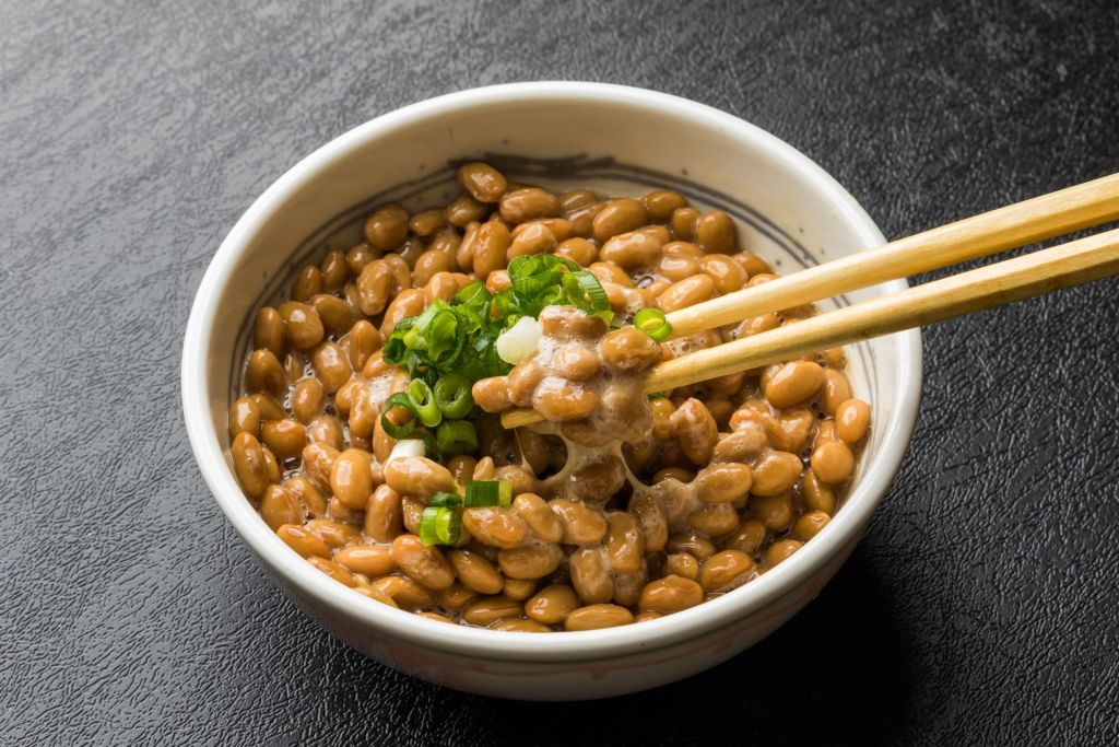 bowl of natto over rice