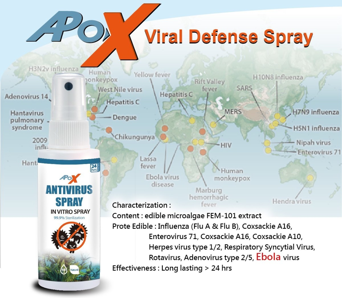 Febico's ApoX Viral Defense Spray Obtained SNQ National Quality Mark