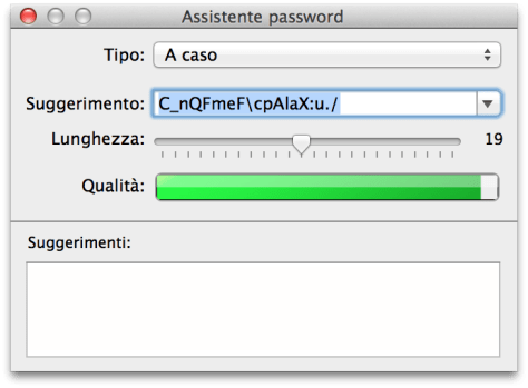 Password Assistant OSX Mavericks