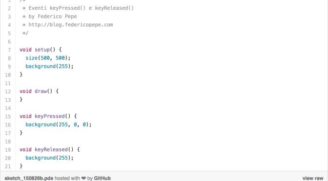 Eventi: mousePressed() e keyPressed()