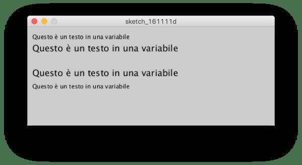 textSize() per modificare la dimensione
