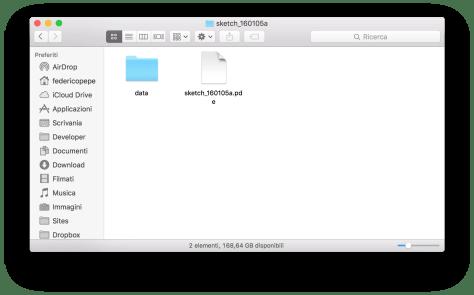 Caricare file esterni in Processing