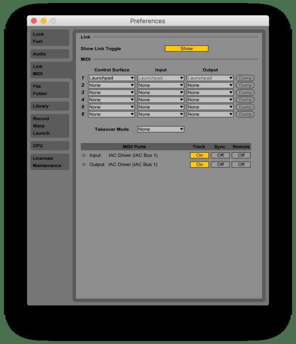 Ableton Live 9 MIDI Preferences