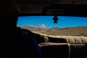 Blick aus dem Jeep