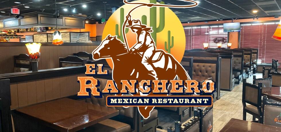 Inside of El Ranchero with Logo