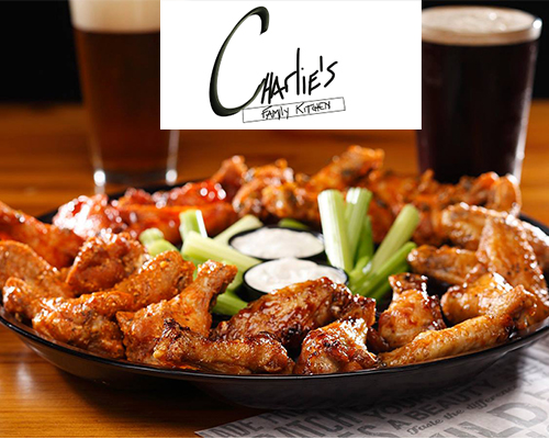 Platter of traditional wings tossed in choice of sauces and served with celery and blue cheese.