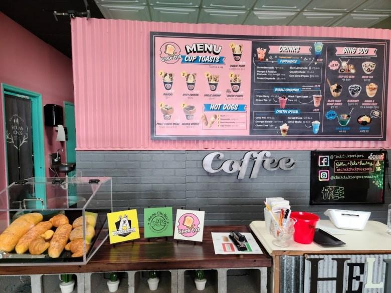 Inside view of Cheetos in Opelika, Alabama. Korean fusion, desserts, cup toast, waffles, shakes. Dessert Restaurant Opelika, Alabama. Dessert Restaurant Auburn, Alabama.