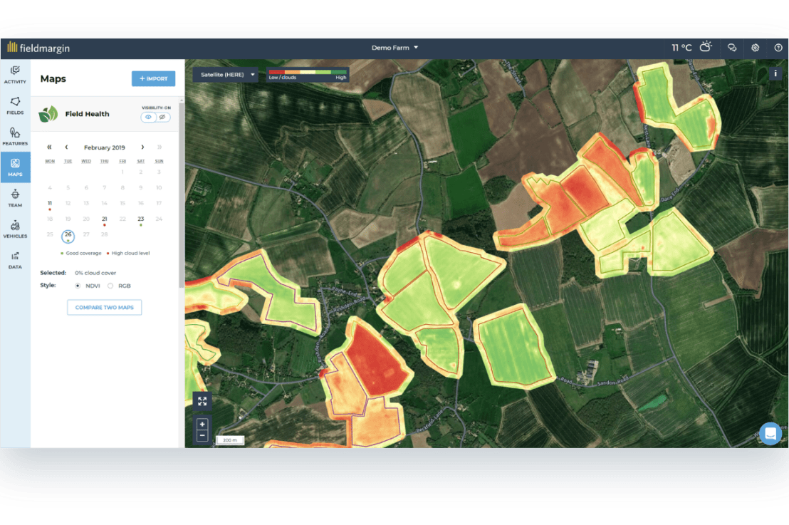 Introducing fieldmargin Pro with satellite imagery analysis