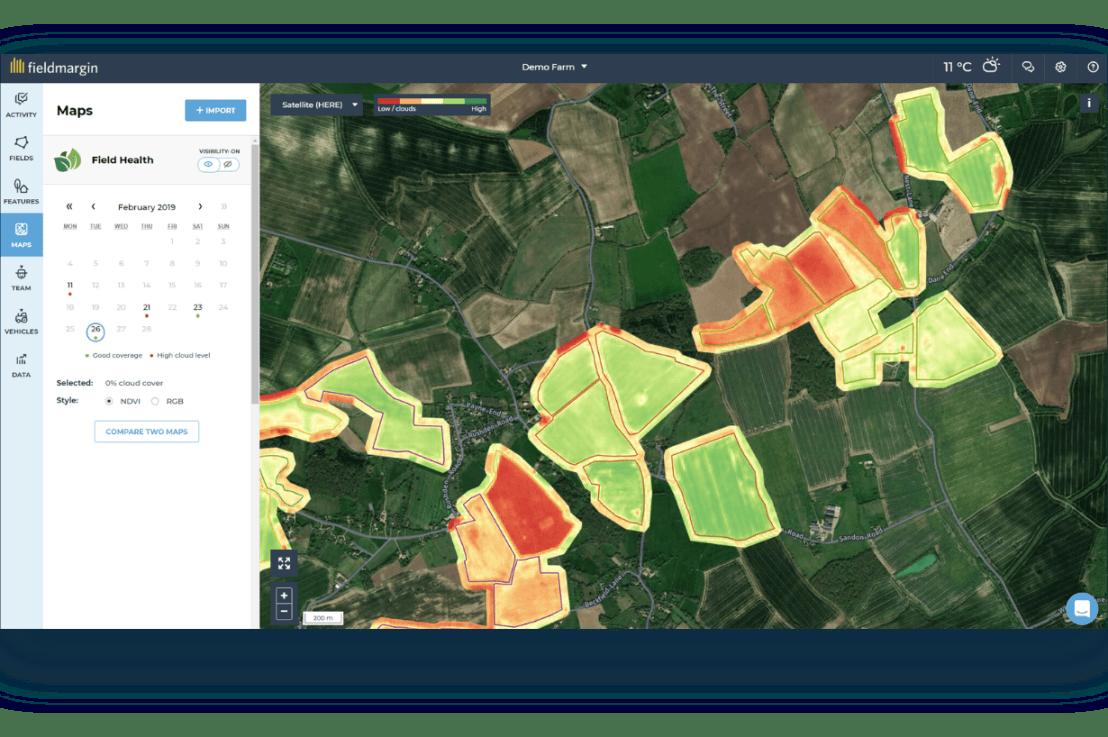 Introducing fieldmargin Pro with satellite imagery analysis