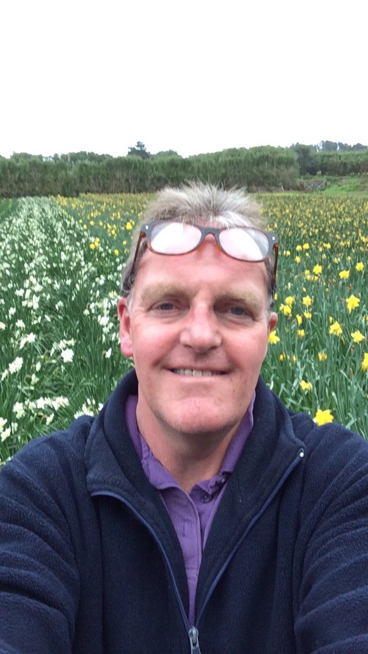 Mike Brown, owner of Sunnyside Narcissi Farm
